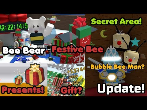 Christmas Update! Festive Bee! Bee Bear? Presents! Secret Areas! Free Gifts! - Bee Swarm Simulator