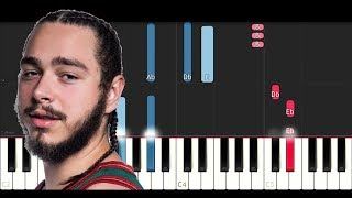 Post Malone - I Fall Apart (Piano Tutorial)