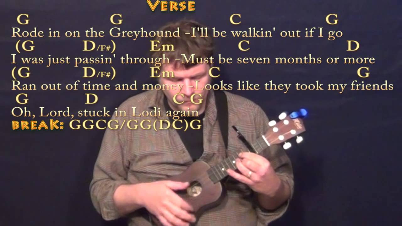 Lodi ccr ukulele cover lesson with chordslyrics capo 3rd youtube lodi ccr ukulele cover lesson with chordslyrics capo 3rd hexwebz Gallery