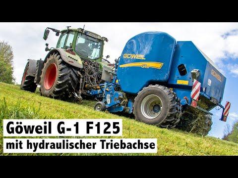 Göweil G-1 F125 Rundballenpresse Mit Triebachse Bei Familie Maierhofer   I Farm It My Way