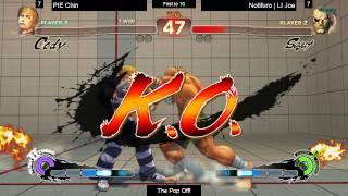SSF4AE The Pop Off PIE Chin Cody vs Notifuro LI Joe Sagat FT10 1000