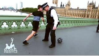 AMAZING STREET SOCCER // NUTMEGS ON THE PUBLIC feat JACK DOWNER