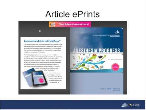 Advertising Sales in a Multi Channel Market, Allen Press Webinar