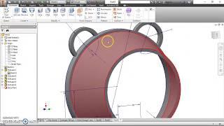 autodesk inventor tutorial  || design part