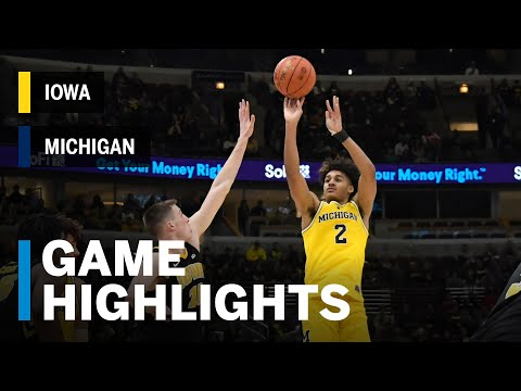 Highlights: Wolverines Advance To Semis | Iowa Vs. Michigan | 2019 B1G Tournament
