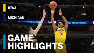 Highlights: Wolverines Advance to Semis   Iowa vs. Michigan   2019 B1G Tournament