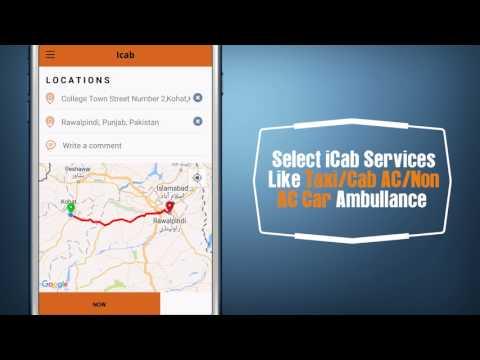 Using iCab Pakistan App for Booking - Urdu Version.