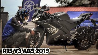 The Black Beast in Town | YZF Yamaha R15 v3 ABS 2019 | Vlog 68