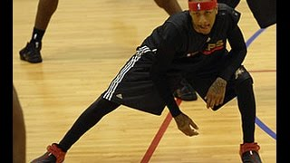 CLASSIC VIDEO Allen Iverson wired for sound Training Camp talking trash.. we talking about practice