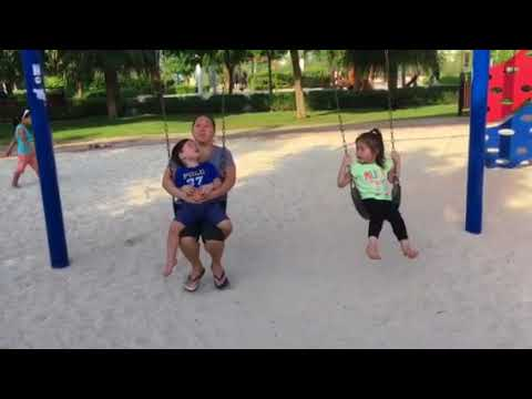 Therese and AA with Nanay Playing Swing at Mankhool Park
