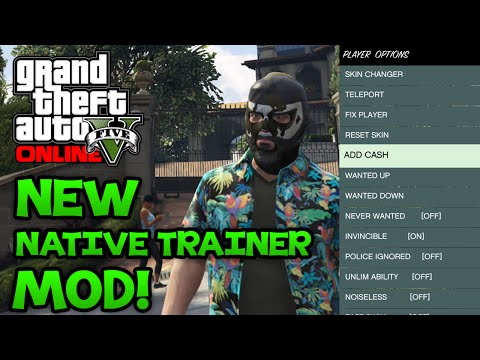 """GTA 5 PC Mods - NEW Native Trainer Mod! Teleport, Money Hack, Change Skin, And More """"Mod Download"""""""