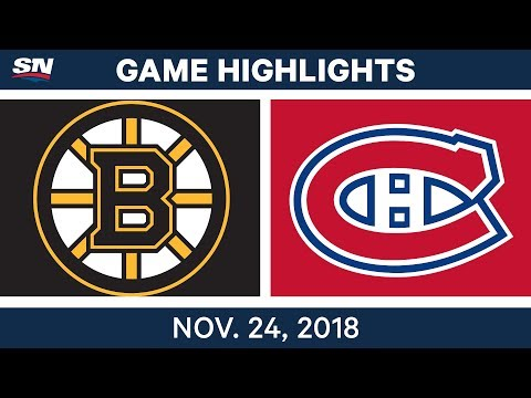 NHL Highlights | Bruins vs. Canadiens – Nov. 24, 2018