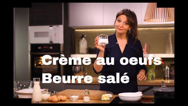 Cr me aux oeufs caramel au beurre sal les recettes - Telematin recettes cuisine carinne teyssandier ...