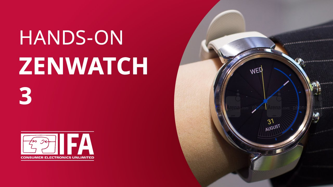 f84fd51ad1a ASUS Zenwatch 3  Hands-on IFA 2016  - YouTube