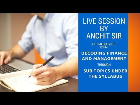 Decoding the syllabus of Finance and Management (FM) for RBI Grade B 2018