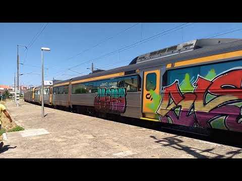 Trenes/Comobios en Coimbra-B y Vila Franca das Naves (Portugal)