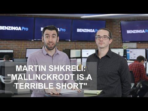 "Martin Shkreli: ""Mallinckrodt Is a Terrible Short"""