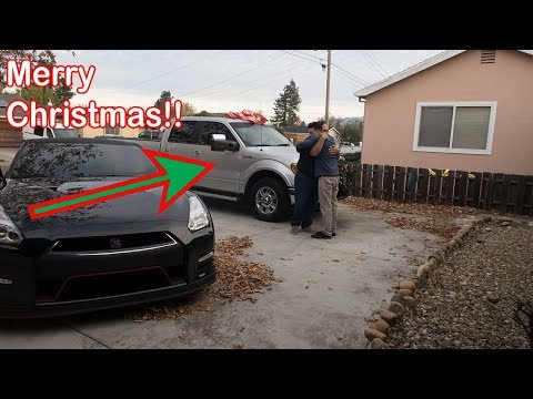 SURPRISED MY DAD WITH A TRUCK FOR CHRISTMAS!!