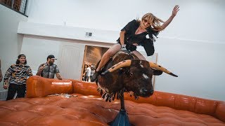 a MECHANICAL BULL in my OFFICE!!