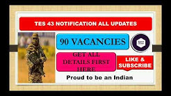 Tes 43 notification 2020 all details and updates | Age,qualification, latest update