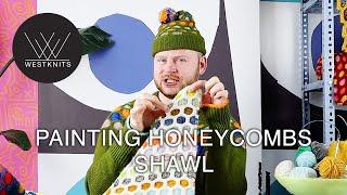 Painting Honeycombs Shawl