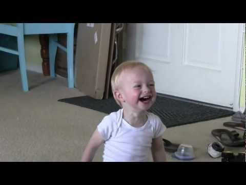Baby Micah Laughing Hysterically Rolling Daddy