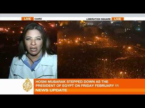 Jubilant scenes in Tahrir Square