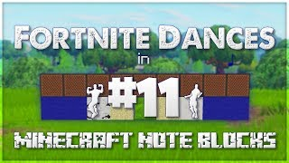 ♪ Fortnite Dances in Minecraft Note Blocks (Shimmer, Get Funky, Free Flow) ♪