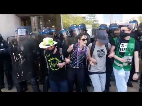 Violente répression des cheminots à gare Montparnasse : matraques et gaz lacrymo