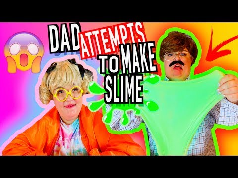 CURLY SUE TEACHES HER DAD HOW TO MAKE SLIME