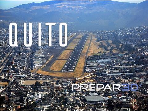 Prepar3D - PMDG 747 V3 - Landing at Quito SEQU (OLD)