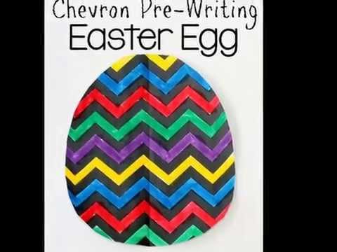 Chevron Easter Egg Craft For Kids