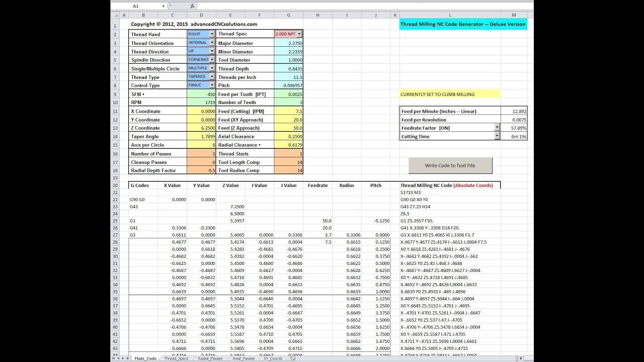 Thread Milling Software | CNC Thread Milling Program | Thread