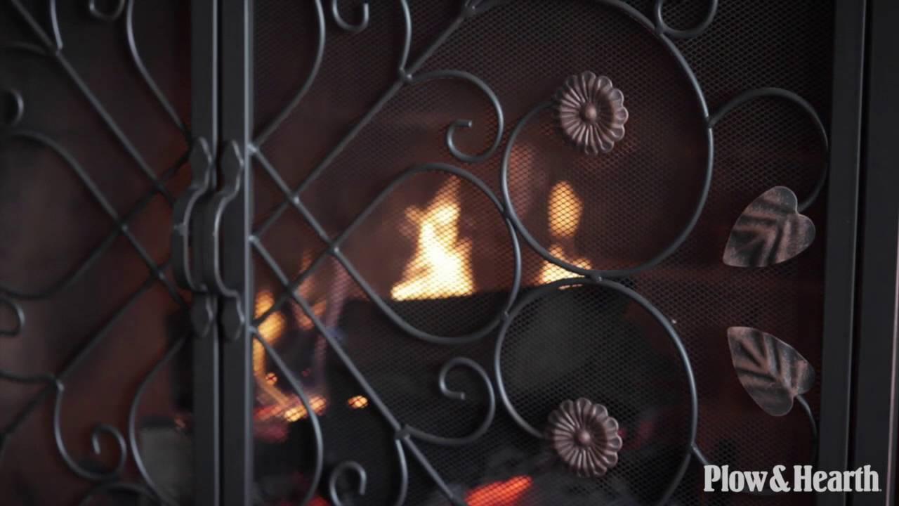 lafayette two door fire screen sku 66a74 plow u0026 hearth youtube