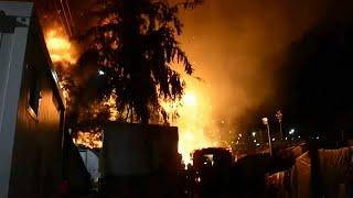 Incêndio em campo de refugiados de Samos