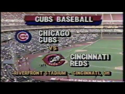 1990 MLB: Cubs at Reds 5/11/1990