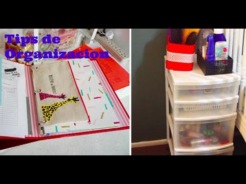 Tips para organizar tu hogar Carpeta Escolar Salon de Belleza en