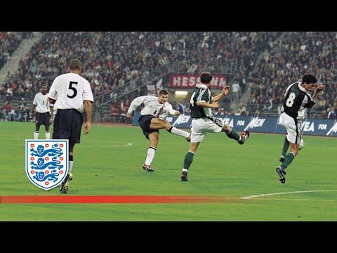 Gerrard's superb first goal for England (v Germany 2001) | From The Archive