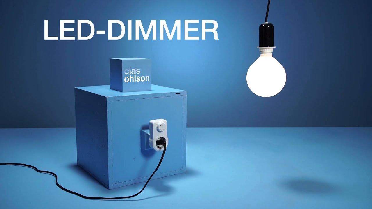 praktisk og enkel dimmer til led lys fra clas ohlson youtube. Black Bedroom Furniture Sets. Home Design Ideas