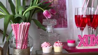 Valentines Day Bar-cart Display