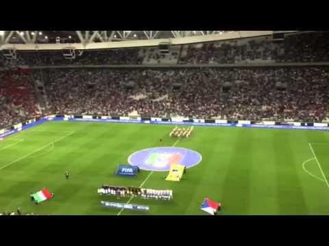 Inno nazionale da brividi allo Juventus Stadium