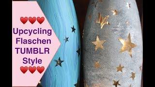 ❤️ Upcycling alter Flaschen Tumblr style LED Lichterflaschen Laternen basteln