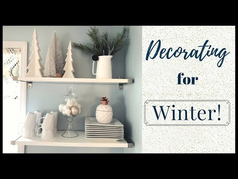 WINTER HOME DECOR 2018  How I decorate after Christmas  Lynette Yoder