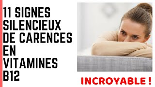 11 SIGNES SILENCIEUX DE CARENCES EN VITAMINES B12
