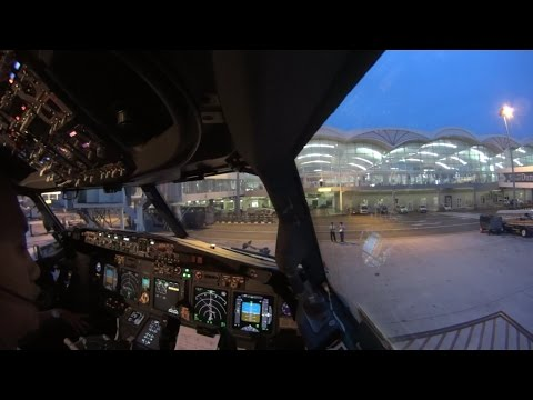(ATC) Cockpit Takeoff And Landing Flight GIA288 WIMM-WARR (single Cam)