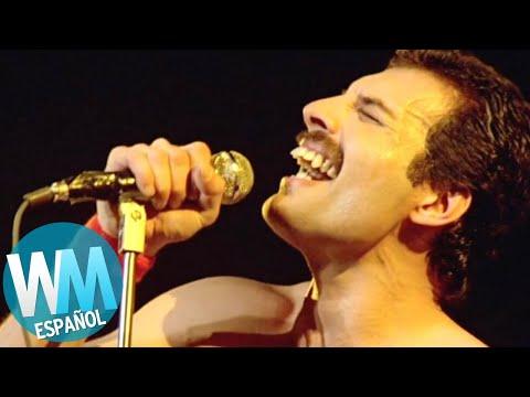 ¡Top 10 Momentos de FREDDIE MERCURY!