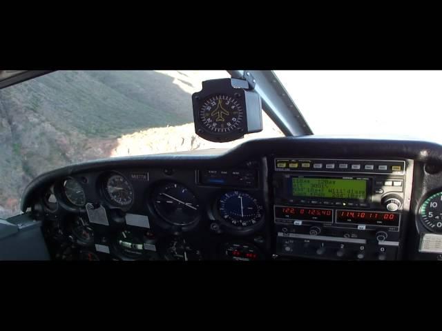 Landing at Red Creek airstrip AZ 1400'