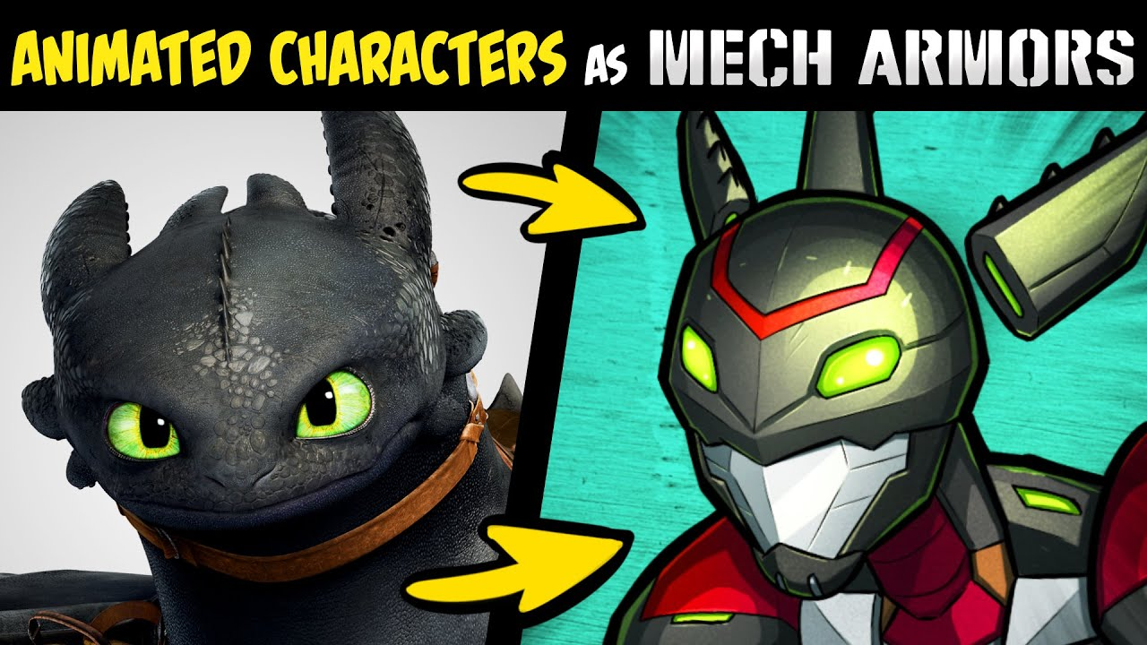 What if FAMOUS ANIMATED CHARACTERS Were MECH ARMORS?! (Stories & Speedpaint)