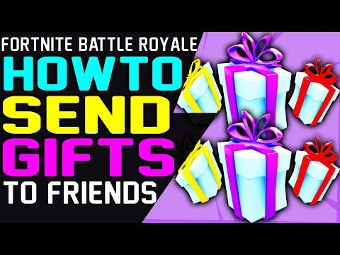 Fortnite HOW TO SEND GIFTS to FRIENDS - ENABLE GIFT OPTION - SEND GIFT in Fortnite Battle Royale