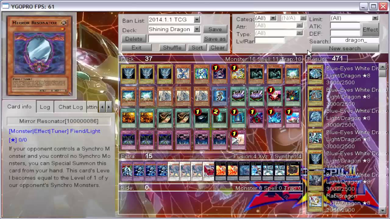Blue-eyes Shining Dragon Deck profile - YouTube
